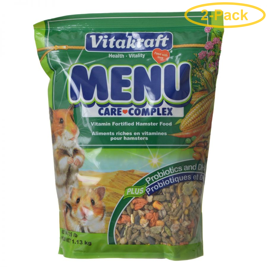 Vitakraft Menu Care Complex Hamster Food 2.5 lbs Pack of 2 by