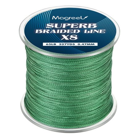 High Performance Line (Magreel Cost-effective Braided Fishing Line, Abrasion Resistant Braided Lines High Performance Strong 4 or 8 Strand Superline Smaller Diameter Zero Stretch,6lb-80lb,327Yards )
