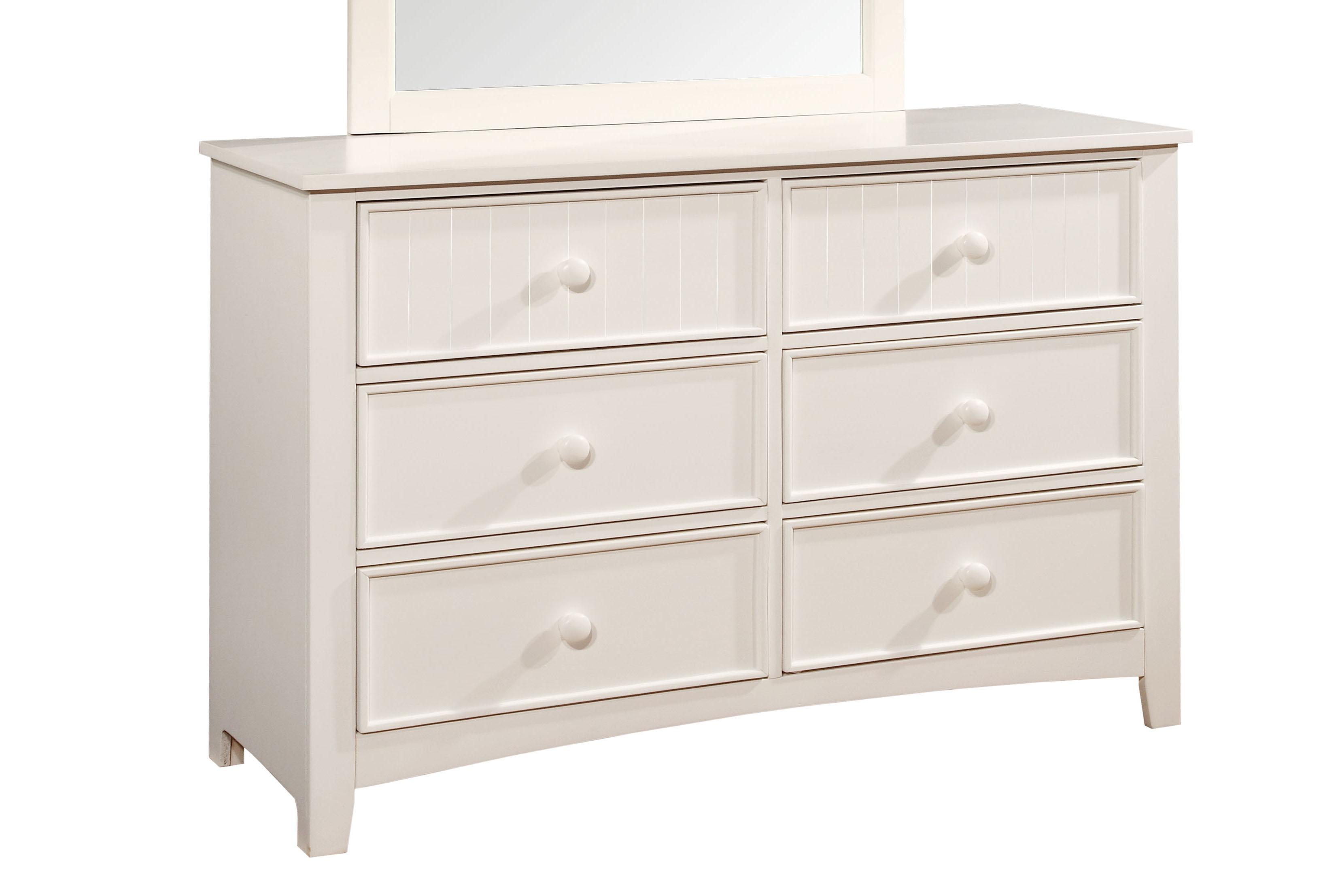 Hokku Designs Alyssa Six Drawer Dresser in White by Urbal Furnishings