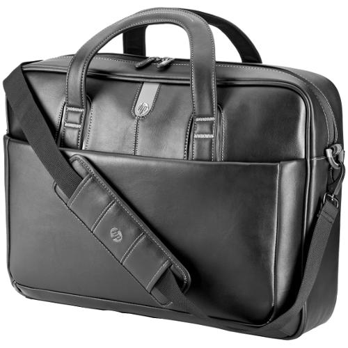 "HP Professional Leather Briefcase for 17.3"" Notebooks - Black"