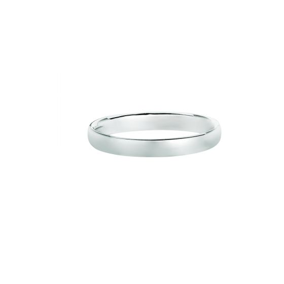 14K White Gold 2.5mm Shiny Comfort Fit Size 3 Wedding Band