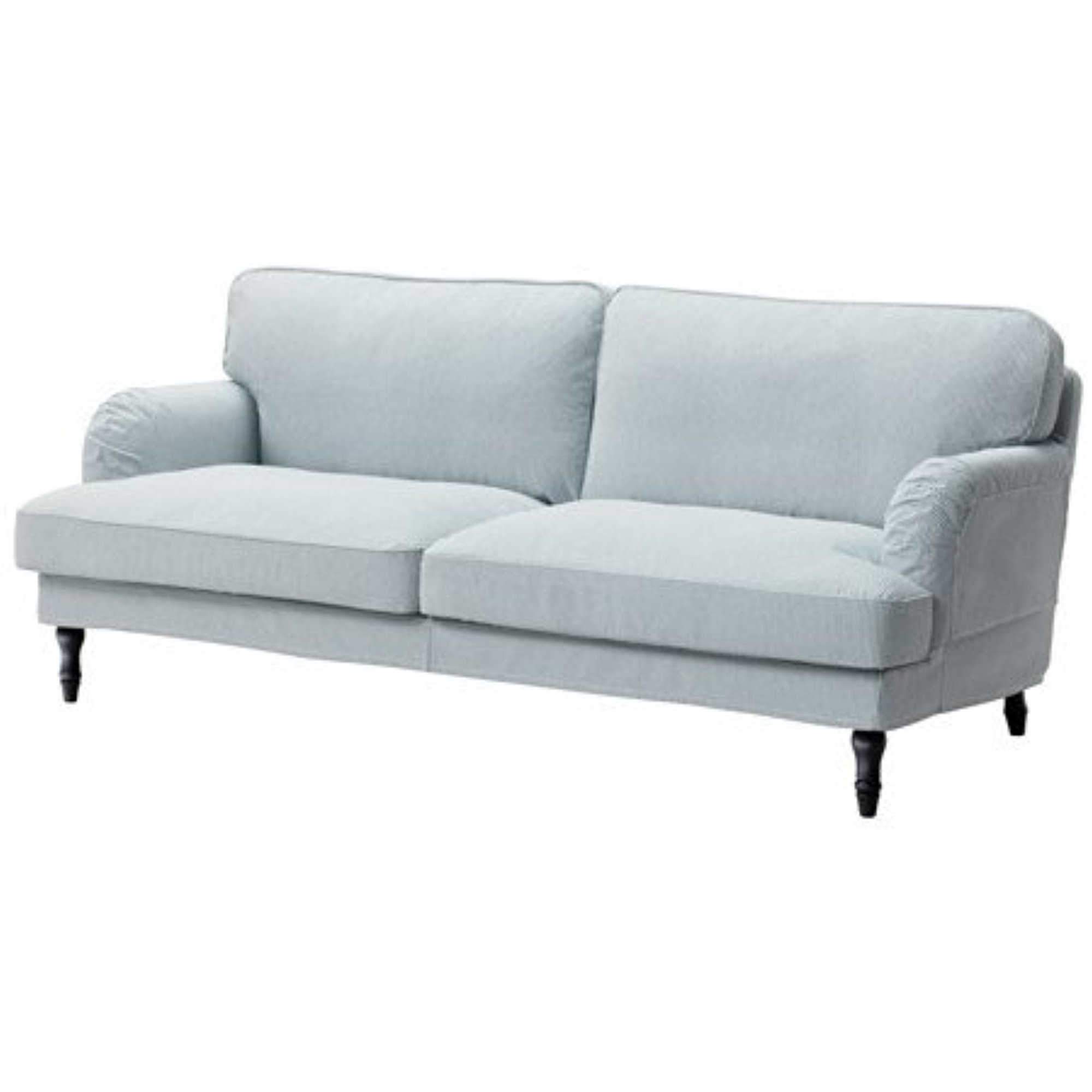 Ikea Sofa Remvallen Blue White Black Wood 10204 82926