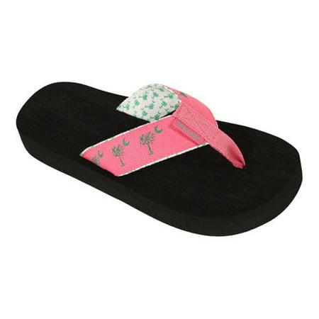 Womens Tidewater Sandals Pink Linen Palmetto