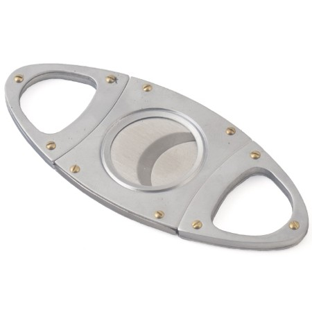 Stainless Steel Double Blade Oval Cigar Cutter