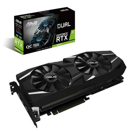 Asus Dual DUAL-RTX2080TI-O11G GeForce RTX 2080 Ti Graphic Card - 11 GB GDDR6 - Triple Slot Space (12 Gb Triple Channel)