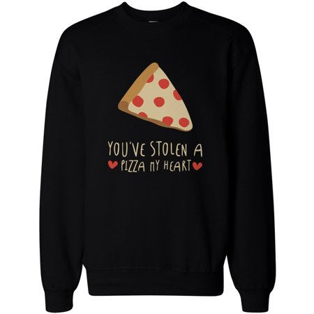 Cute Graphic Sweatshirt You Stolen a Pizza My Heart Black Unisex Pullover Sweater](Pizza Sweater)