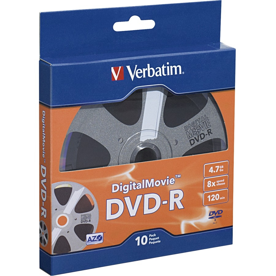 Verbatim 97946 4.7gb 120-minute Digitalmovie Dvd-rs, 10 Pk