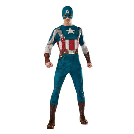 Marvel Retro Captain America Costume Adult - Captain America Costume Mens