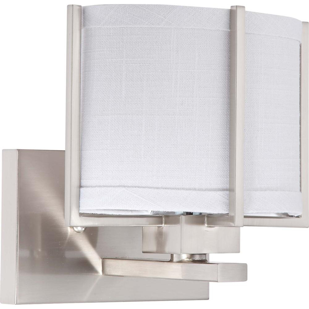 Nuvo Portia ES - 1 Light Vanity w/ Slate Gray Fabric Shade - (1) 13w GU24 Lamp Included