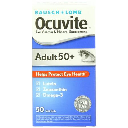 Adultos mayores de 50 años vitaminas y suplementos minerales 50 áapsuslas de gel