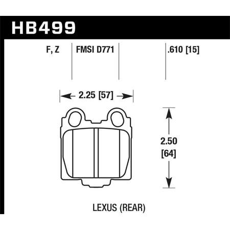Hawk 00-05 Lexus IS300 HPS Street Rear Brake Pads