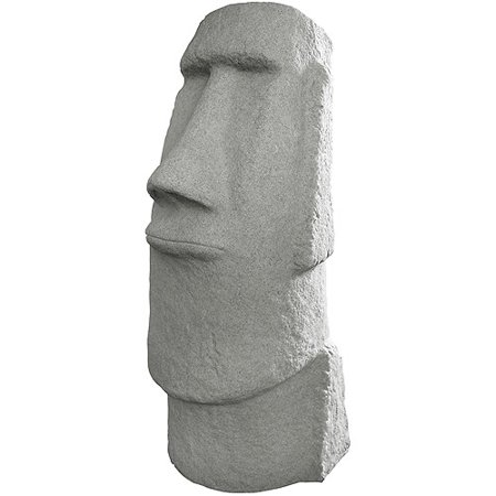 "EMSCO Easter Island Head 28"" Garden Statue – Natural Granite Appearance – 28"" Height"