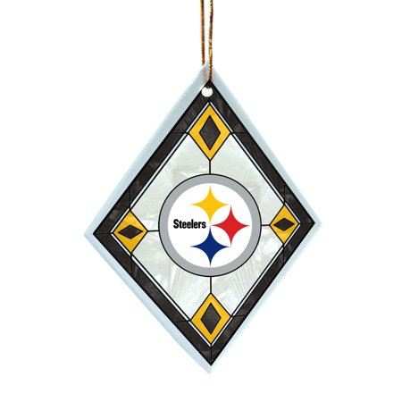 NFL Pittsburgh Steelers Art Glass Ornament, Licensed sport ornament By The Memory - Steeler Ornaments