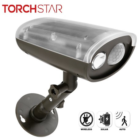 TORCHSTAR LED Solar Powered Outdoor Security Light with Motion Sensor, Waterproof Wireless Solar Wall Lights