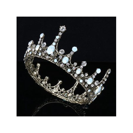 Baroque Bridal Jewelry Vintage Crystal Pearl Queen Crown Tiaras Headband for Women](Crowns For Queens)
