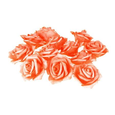 Foam Roses Flower Head Embellishment, 3-Inch, 12-Count, Coral - Foam Flower