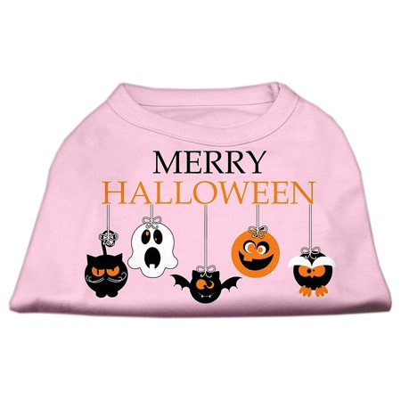 Merry Halloween Screen Print Dog Shirt Light Pink XXXL - Halloween Merry Hill