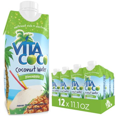 Vita Coco Coconut Water, Pineapple, 11.1 Fl Oz, 12 Count