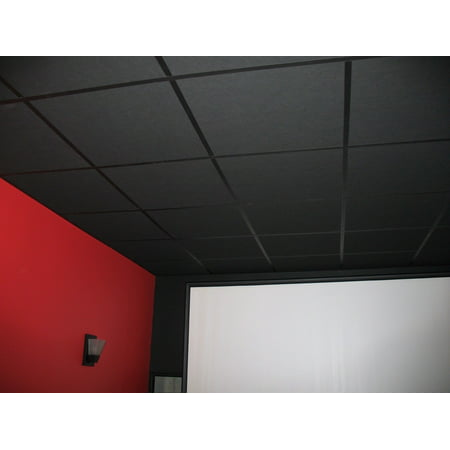 Soundsulate Black Drop Ceiling Tiles 24