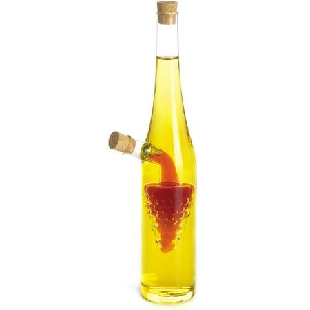 Fox Run 2-in-1 Glass Grapes Oil and Vinegar Bottle, 12 - Grapes Glass Oil Bottle