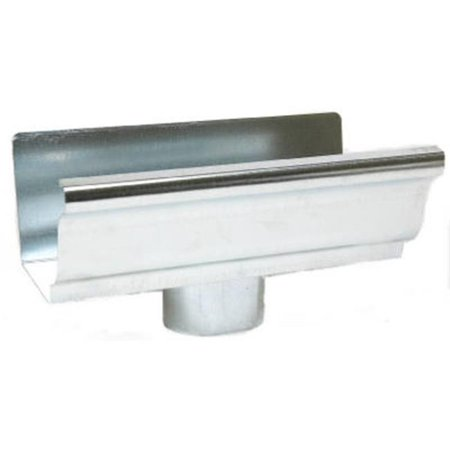 15010 Mill Finish Galvanized Steel End Piece With Drop - 4 in