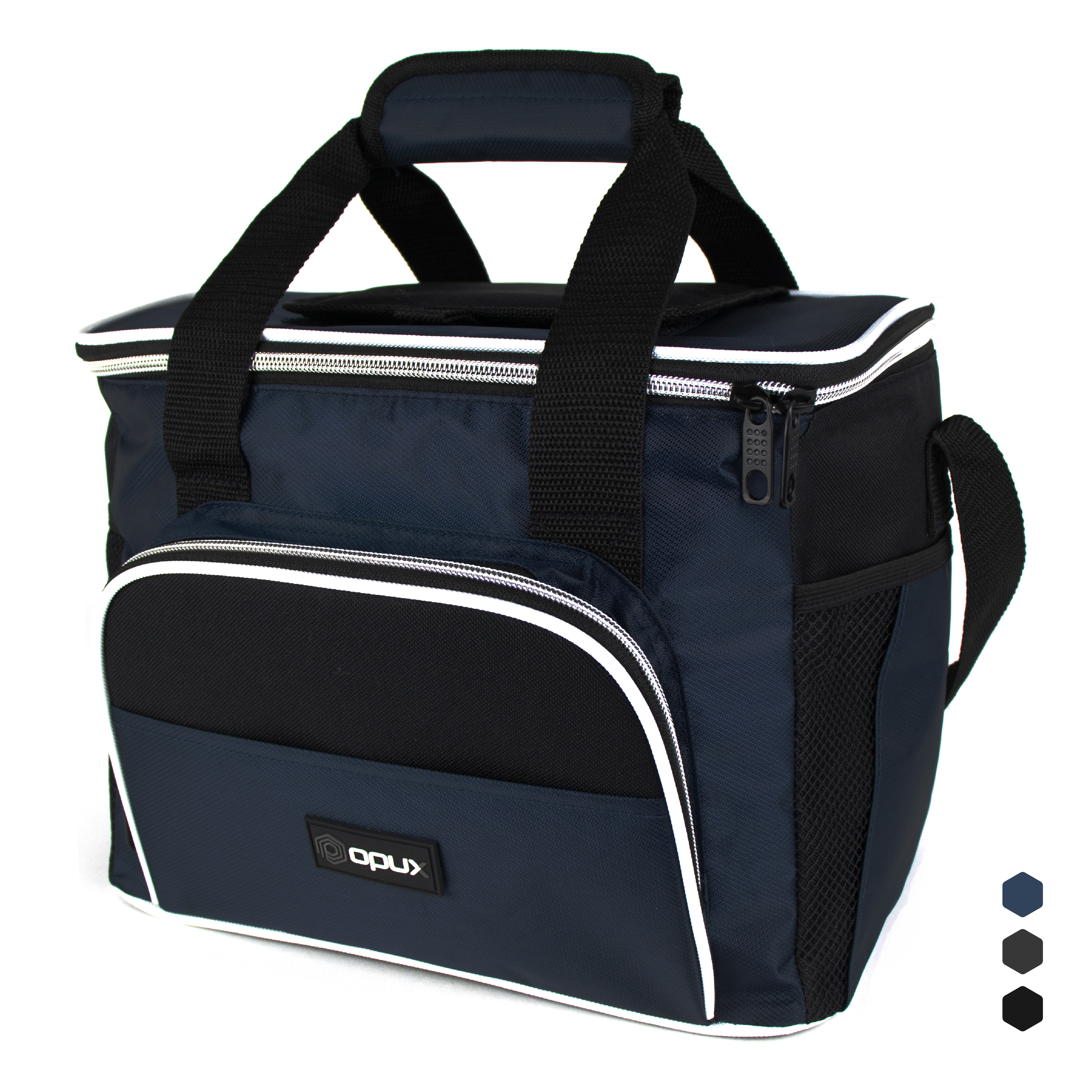 Premium Insulated Lunch Cooler Bag by OPUX | Durable, Functional, Easy To Use | Large Capacity (Navy)