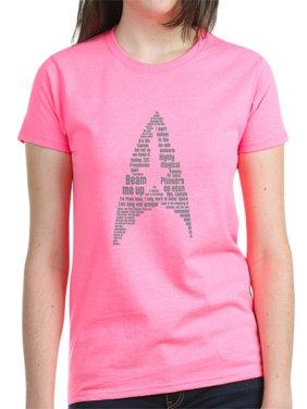 9eb79c181cf Product Image CafePress - Star Trek Quotes Insignia - Grey T-Shirt - Women s  Dark T-