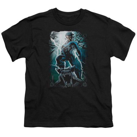 Batman Night Light-S by S Youth Short Sleeve Shirt, Black - Small - image 1 of 1