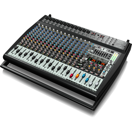 Behringer EUROPOWER PMP6000 1600-Watt 20-Channel Powered Mixer w/ Dual Multi-FX Processor & FBQ Feedback Detection System