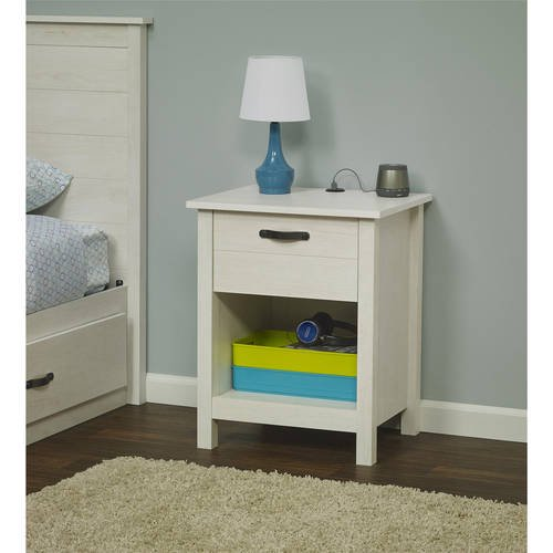 Mainstays kyle night stand with usb port multiple colors for Multi night stand