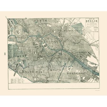 Old Germany Map Berlin Rathbun 1893 23 X 29 10 Walmart Com