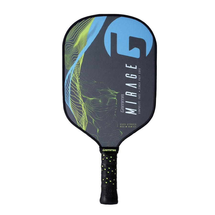 Gamma Mirage Pickleball Paddle - Grey/Blue/green