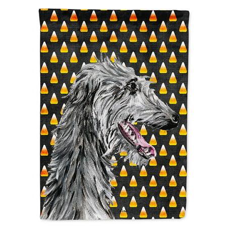 Scottish Deerhound Candy Corn Halloween Garden Flag