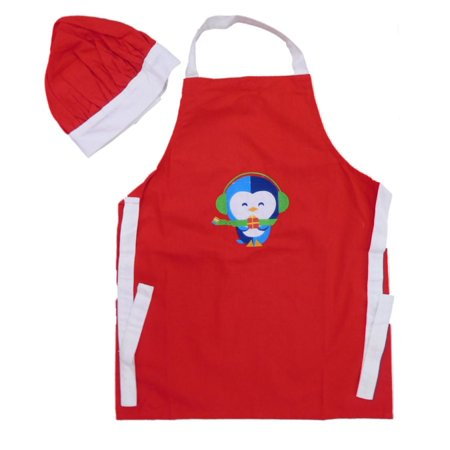 Style Childs Cooking Apron & Chefs Hat Christmas Penguin Cook (Cher Style)