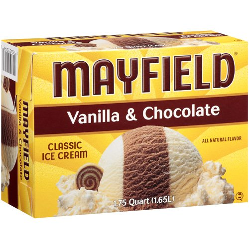 Mayfield: Vanilla & Chocolate Classic Ice Cream, 1.75 Qt