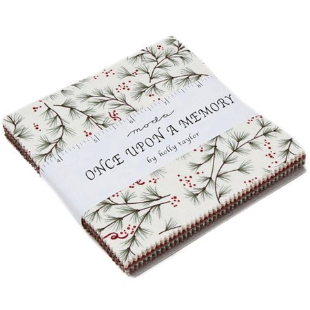 "Once Upon A Memory Moda Charm Pack by Holly Taylor; 42 - 5"" Precut Fabric Quilt Squares"