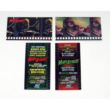 1996 Topps Mars Attacks! Movie Widevision Promo Card Set (2) -