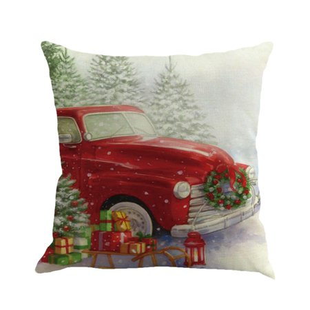 Hot Sale Merry Christmas Home Shops Sofa Bed Car Seat Dyeing Printed Square Pillow Case Decorative Cushion Cover Xmas Home Festival Decoration (Christmas Carolers Decorations Sale)
