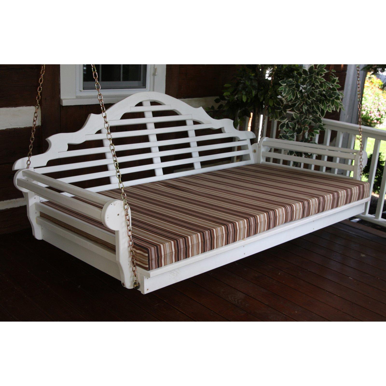 A & L Furniture Yellow Pine Marlboro XL Swing Bed - Holds Twin Size Mattress