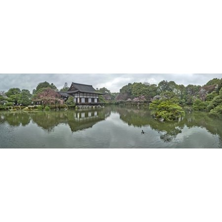 Garden at Heian Shrine Sakyo-ku Kyoto Kyoto Prefecture Japan Stretched Canvas - Panoramic Images (27 x