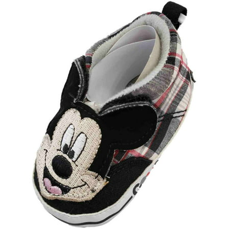 Disney Infant Boys Mickey Mouse Good Guy Slip-On Sneakers Kids Shoes Disney Mickey Mouse Shoe