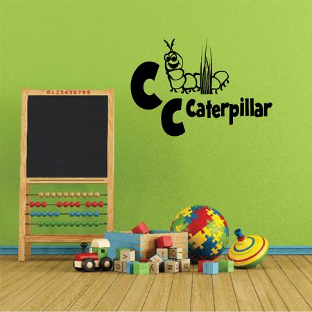 Alphabet Animals  C Caterpillar Wall Decal - Vinyl Decal - Car Decal - 36 - Caterpillar Wall