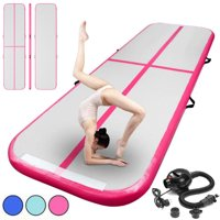 GoFun 10x3.3FT Air Track Inflatable Gymnastics Mat Air Floor Tumbling Track Gymnastics Exercise Mats Pad For Floor Home Back Yard