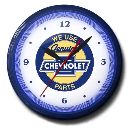 Polder Clock (Chevrolet Parts Genuine Bow Tie Emblem Neon 20
