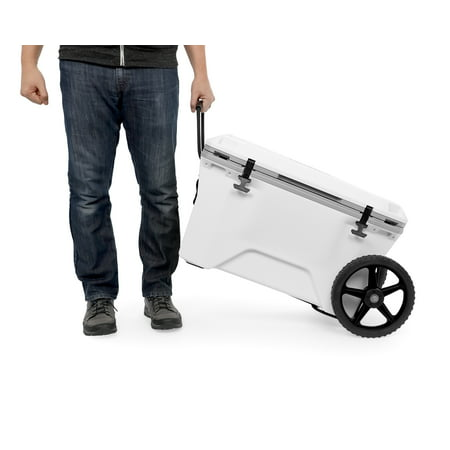 Heavy Durable - Camco Adjustable Cooler Cart Kit - Transport Your Cooler on Wheels, Adjusts up to 17.5