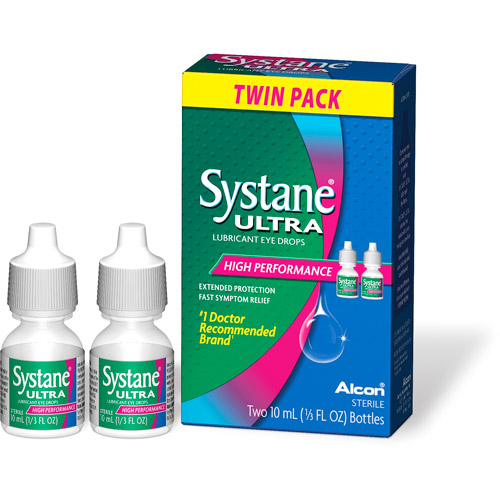 Systane Ultra Lubricant High Performance Eye Drops Bonus Pack, 1/3 oz