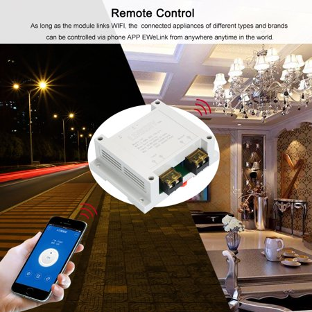 eWeLink Smart Wifi Switch Universal Module 1CH AC85-250V Wireless Switch  Timer Phone APP Remote Control Compatible with