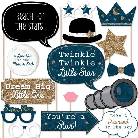 Twinkle Little Star Baby Shower Or Birthday Photo Booth Props Kit