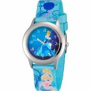 Cinderella Girls' Stainless Steel Watch, Blue Strap