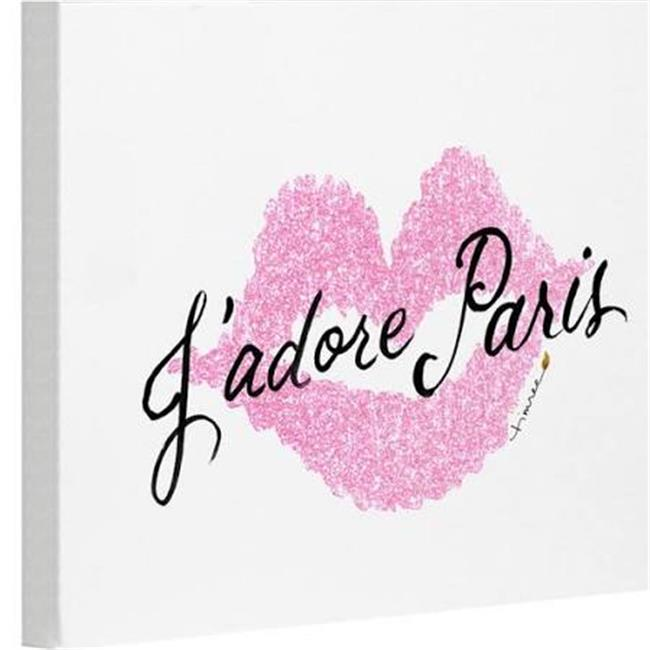 one bella casa 74445wd20 20 x 24 in jadore paris pink canvas wall decor by